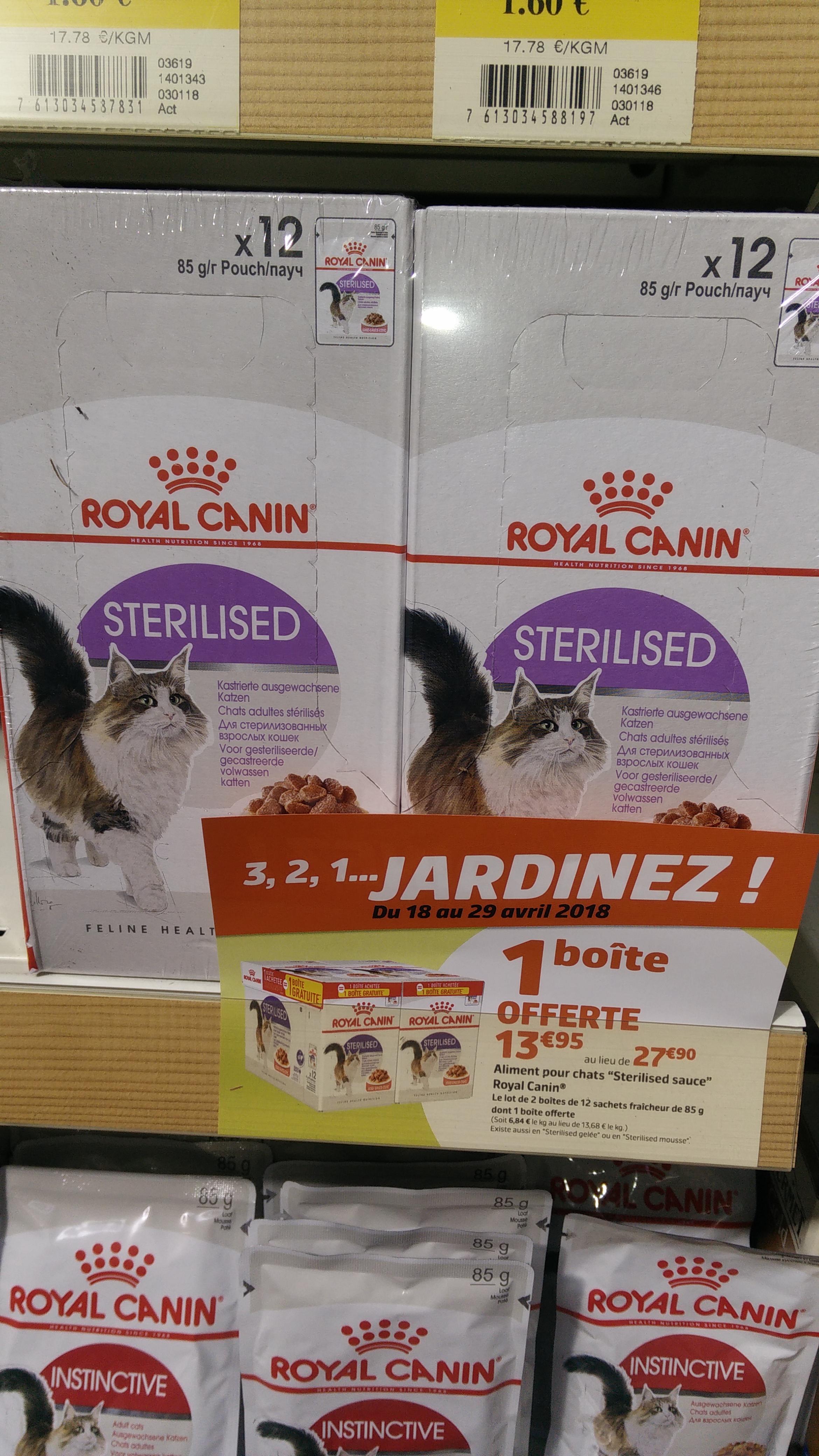 Lot de 2 boites de 12 sachets fraîcheur Royal Canin Sterilised pour chat (12 x 85g)