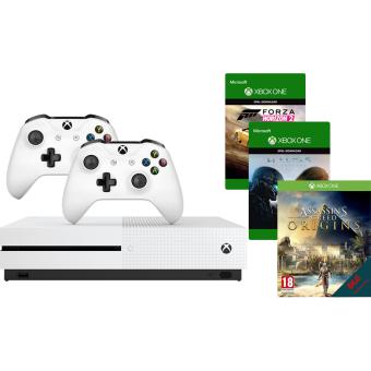 Console Xbox One S 500 Go + 2ème manette + 3 jeux (Frontaliers Suisse)