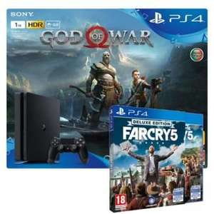Pack PS4 1To God of War + Far Cry 5 - Deluxe Edition