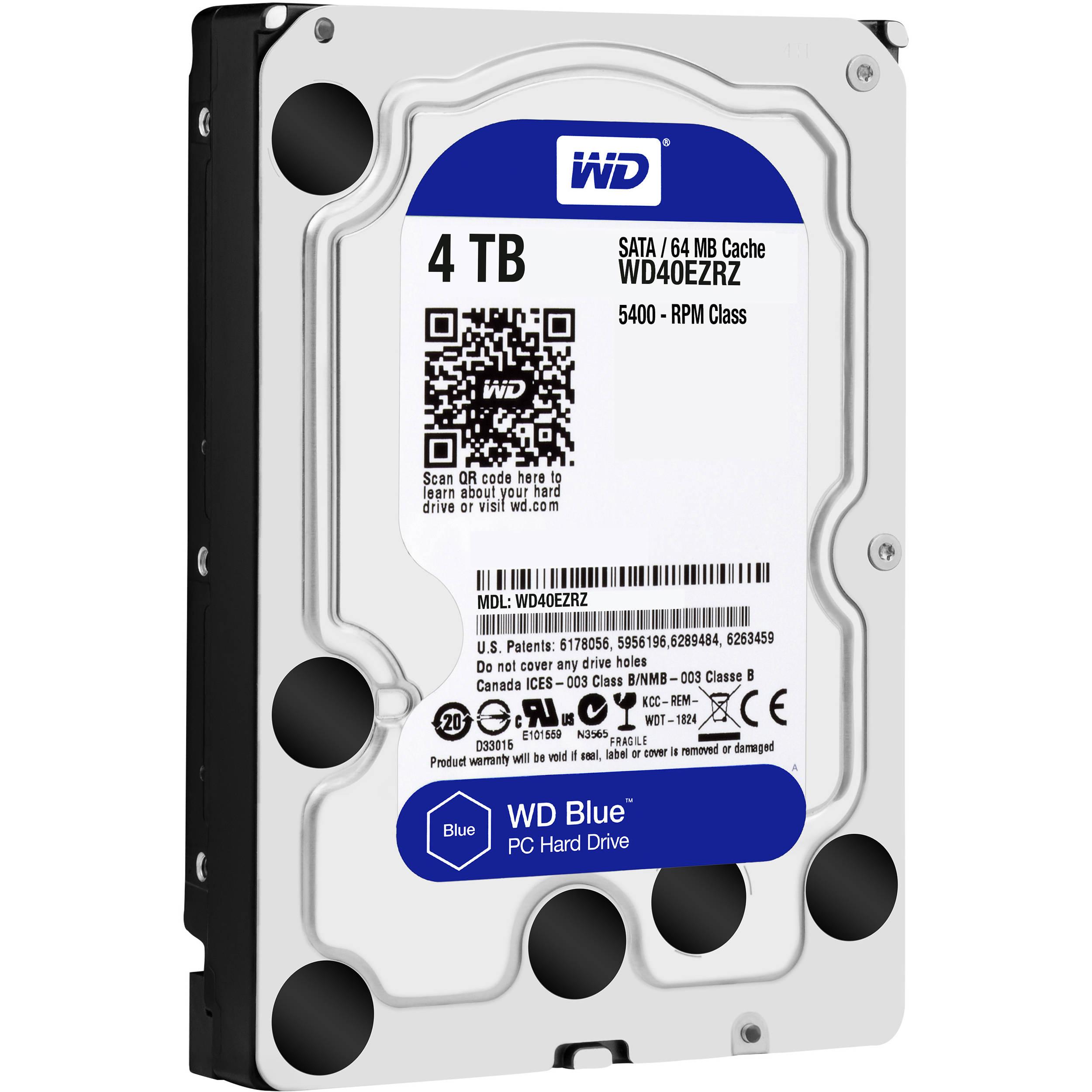 """Disque dur interne 3.5"""" Western Digital WD Blue - 4 To (WD40EZRZ) + 12.84€ en SuperPoints [91.12€ avec le code AVRIL15]"""