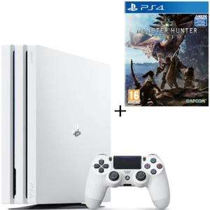 Console Sony PS4 Pro (Blanc) - 1To + Monster Hunter World