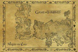 Poster Game Of Thrones - Carte de Westeros