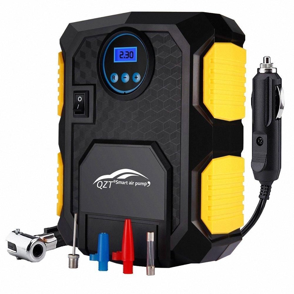 Compresseur d'air Portable QZT 12V - LED - 3 Adaptateurs de Buse - Câble 3m (vendeur tiers)