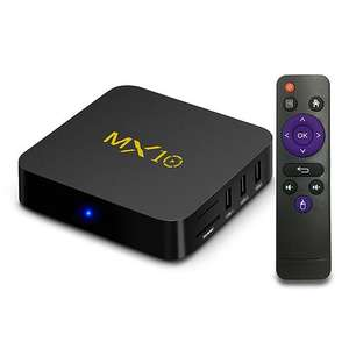 Box TV Android MX10 - 4K UHD, RK3328, 4 Go de RAM, 32 Go en eMMC, Android 8.1
