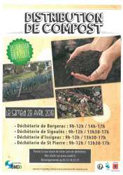 Distribution gratuite de compost - Bergerac, Issigeac, Saint Pierre D'Eyraud, Sigoules