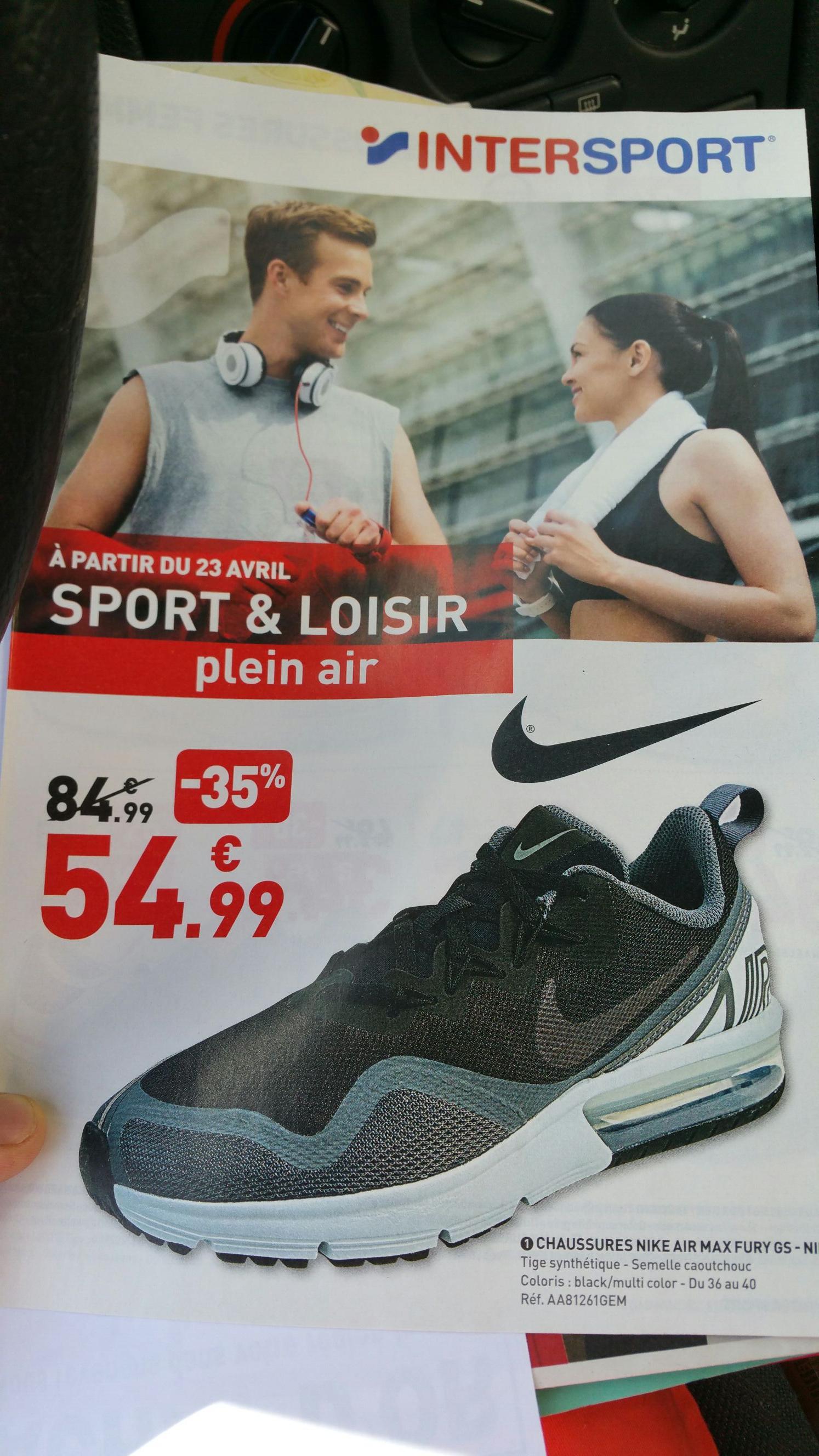Chaussures enfant Nike air max fury GS - Bernay (27)