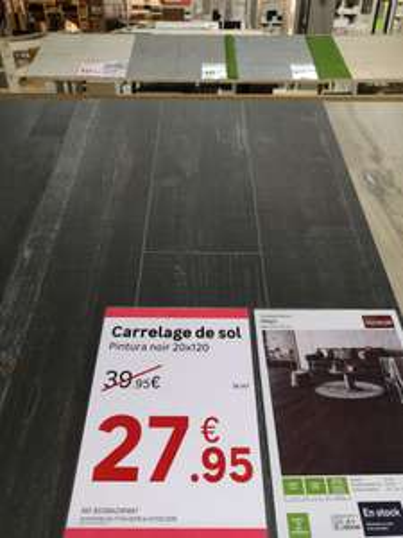 Carrelage de Sol - Peinture Noire - 20x120cm (Rueil-Malmaison 92)