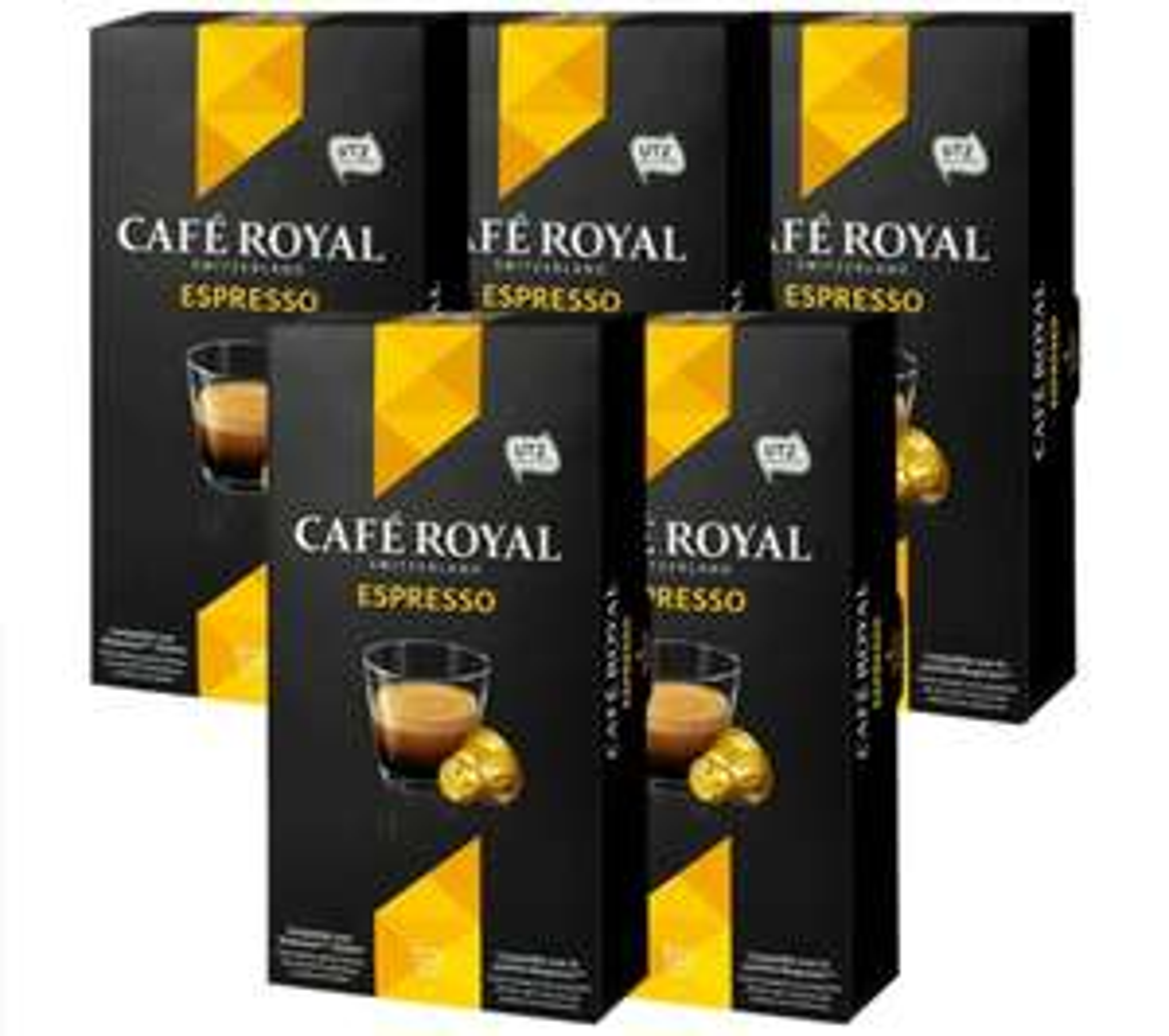 5 paquets de Dosettes Nespresso Café Royal - 5 x 10