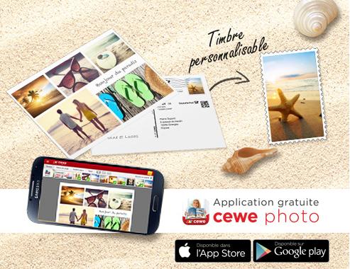 Une carte postale personnalisée et timbrée offerte et livrée gratuitement
