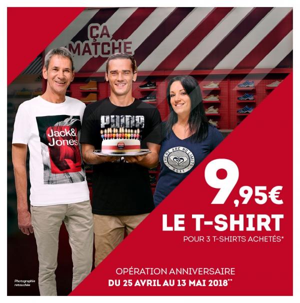 Lot de 3 tee-shirts parmi une sélection de marques (Enfant, Femme ou Homme)