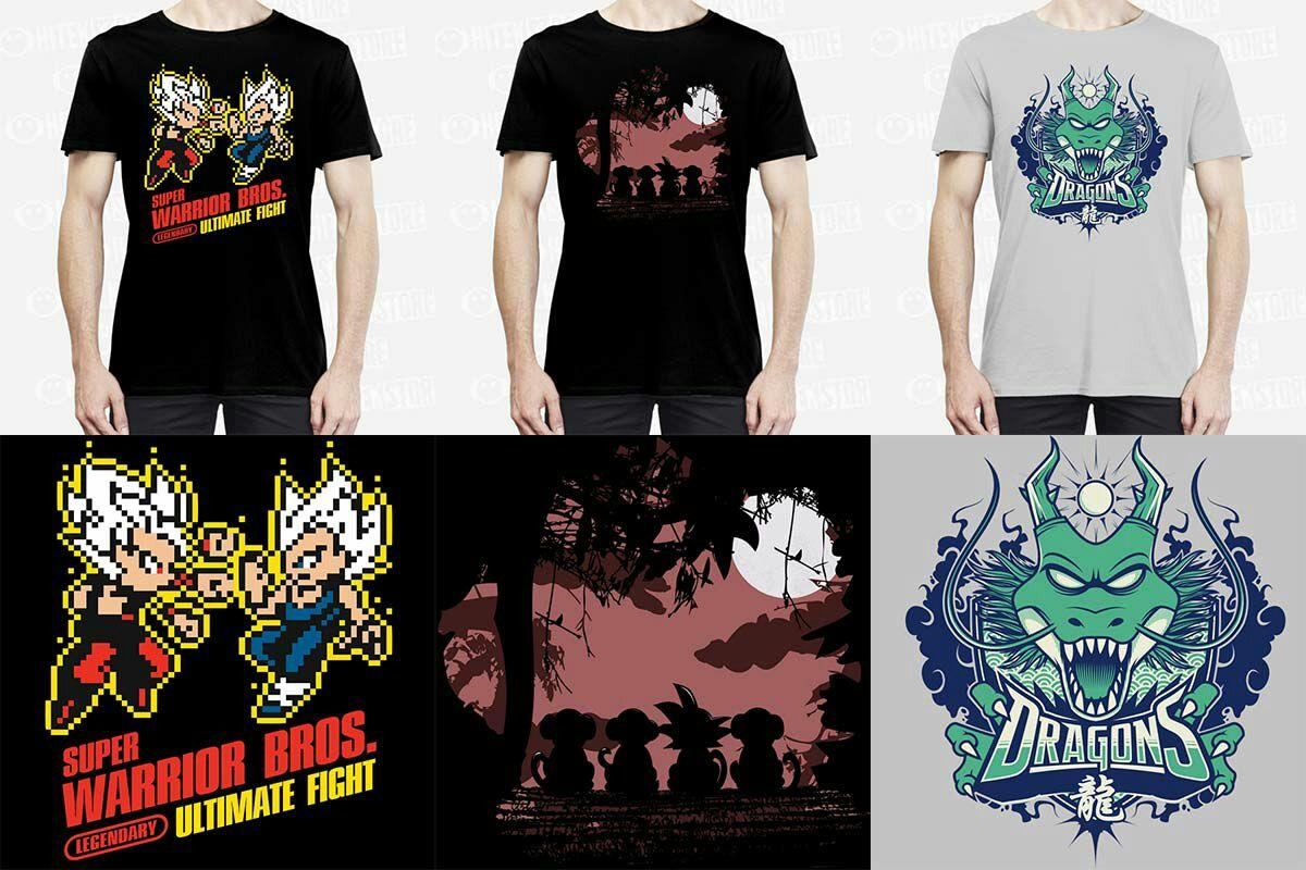 Lot de 3 Tee-Shirts Dragon Ball Z (Plusieurs tailles)