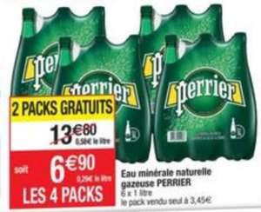 4 packs de Perrier - 4 x 6L