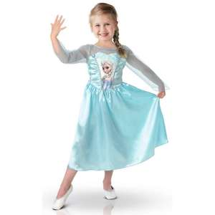 Déguisement La reine des neiges Classique Elsa - Taille 7-8 Ans