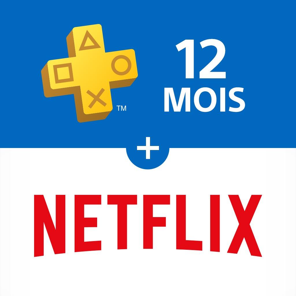 Abonnement Netflix HD - 3 Mois + Abonnement Playstation Plus - 12 Mois