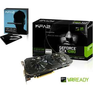 "Carte Graphique KFA2 GeForce GTX 1080 EXOC Sniper Black - 8 Go + SSD Interne 2.5"" KFA2 120 Go (TLC)"