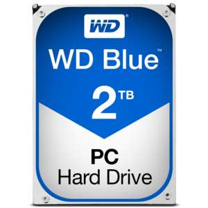 """Disque dur interne 3.5"""" Western Digital WD Blue (5400 trs/min, 64 Mo) - 2 To"""