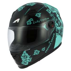 Casque moto Astone GT2 graphic lady custom - Taille XS , S et M