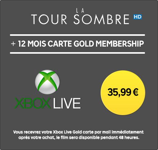 Abonnement Xbox Live Gold - 12 Mois + Film La Tour Sombre en Location HD 48h (Dématérialisé)