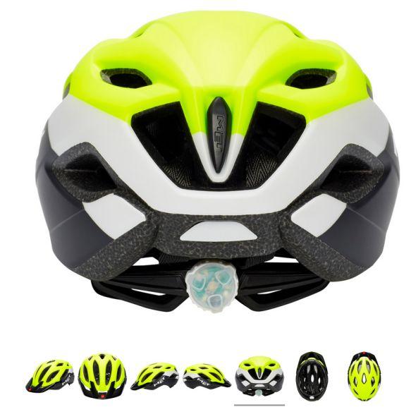 Sélection Casques Vélo MET avec LED, ex : Casque Crossover XL 60-64cm - Safety Jaune