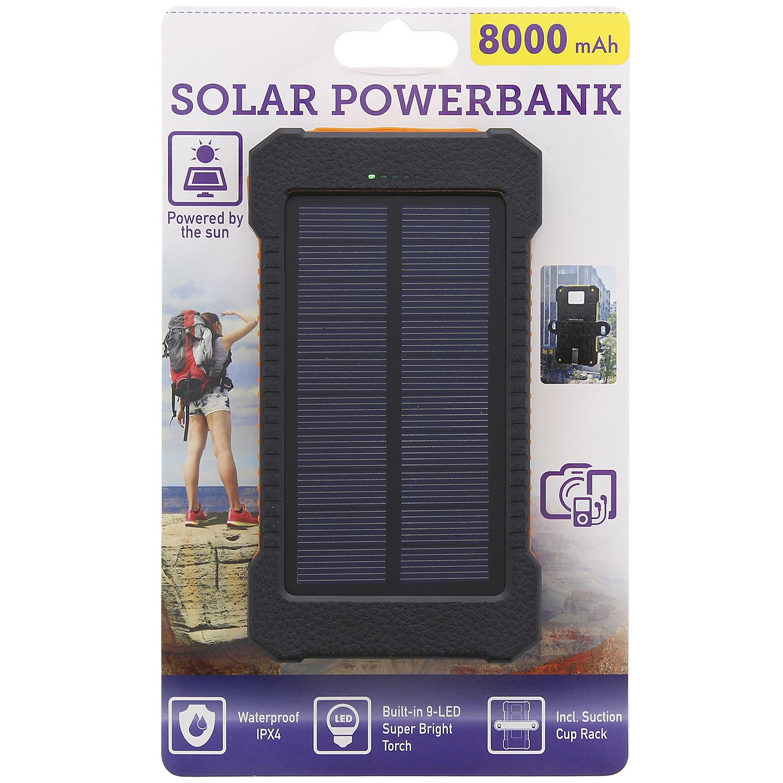 batterie externe usb powerbank solaire 8000mah. Black Bedroom Furniture Sets. Home Design Ideas