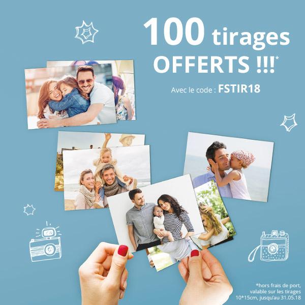 100 Tirages Photos - 10 x 15cm (Frais de Livraison Inclus)