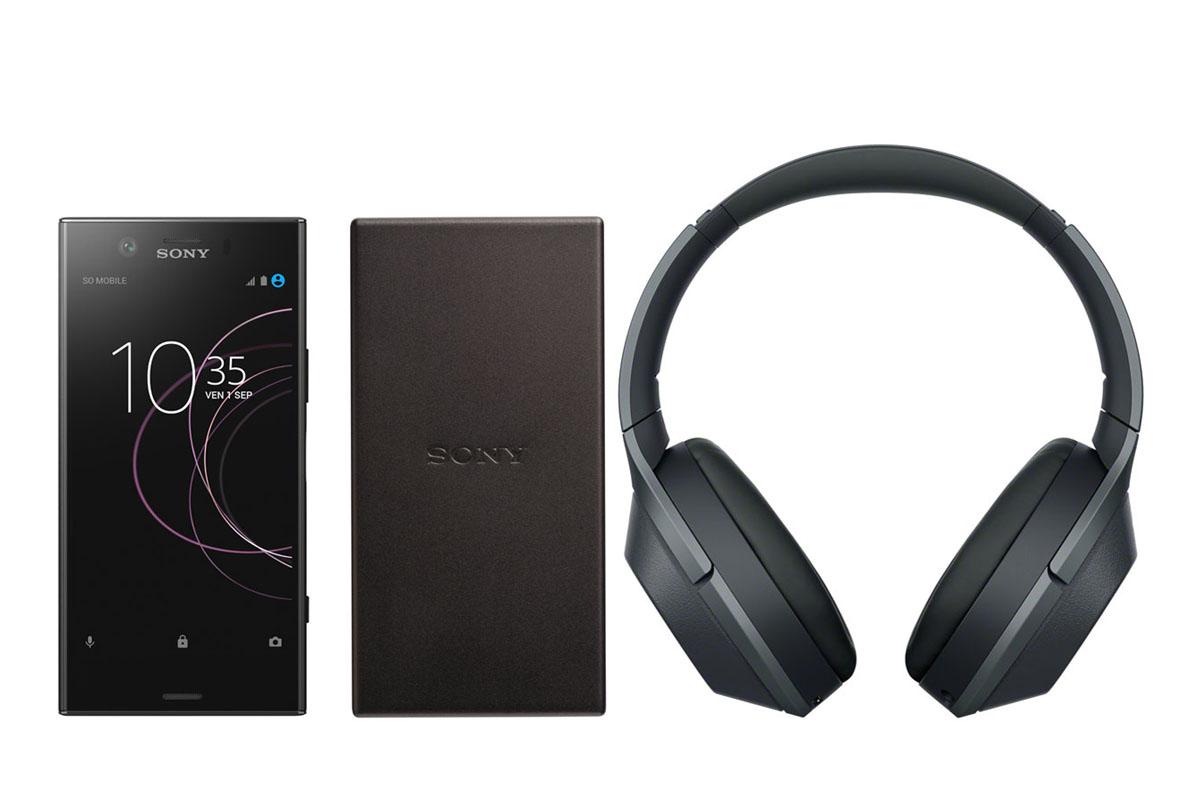 """Smartphone 5.2"""" Sony Xperia XZ1 Compact (Coloris au choix) - Snapdragon 835, RAM 4Go, 32Go + Casque Audio Sans-fil Sony WH-1000XM2 + Batterie Externe Sony CP-SC5 5000mAH"""