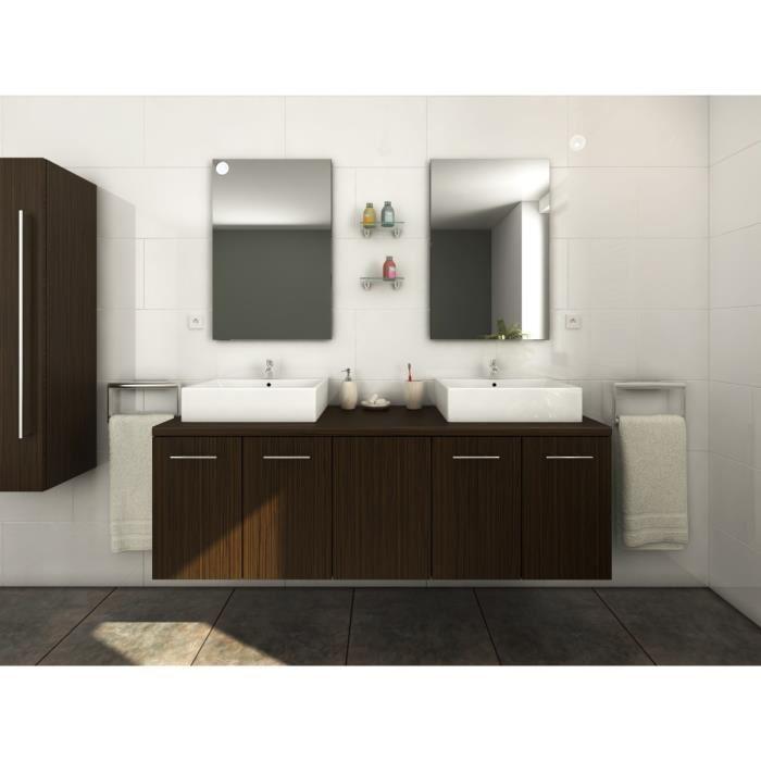 Cdiscount à volonté] Salle de bain complète double vasque L 150 cm ...