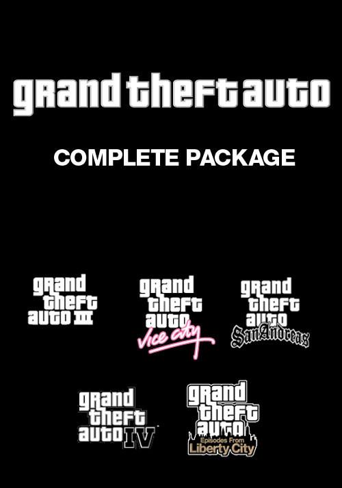 Grand Theft Auto Complete sur PC (GTA III + Vice City + Auto San Andreas + IV + IV Episodes From Liberty City) - (Dématérialisé - Steam)