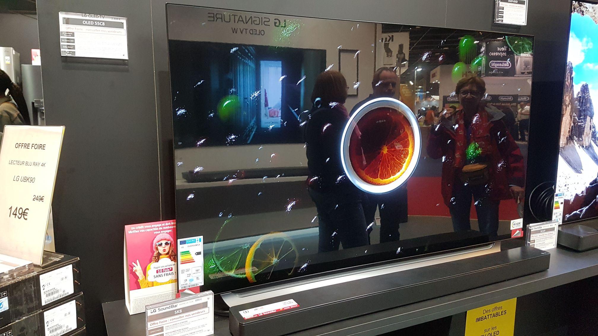 """TV 55"""" LG 55C8 - 4K OLED - Foire de Paris, Planète Technologie (75)"""