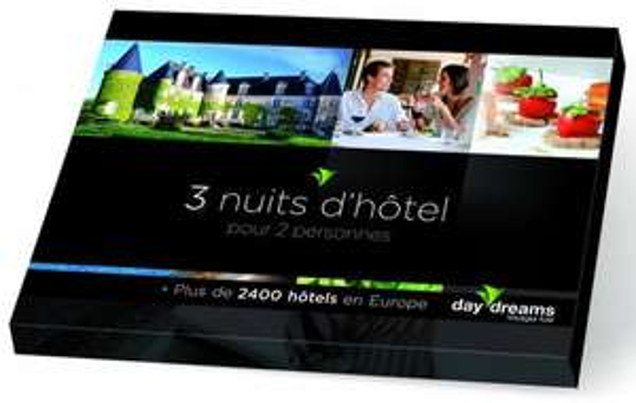 Coffret DayDreams 3 nuit d'hotels pour 2 personnes en Europe