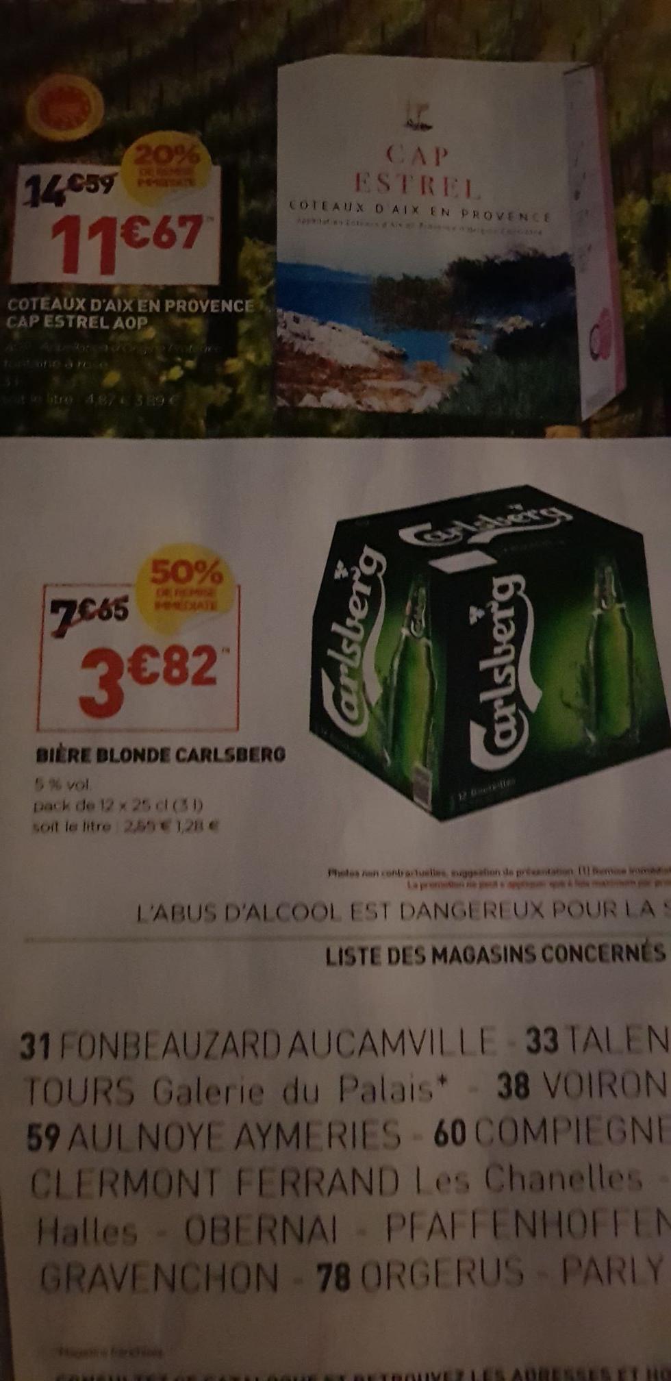 Pack de 12 Bières Blondes Carlsberg - 12 × 25cl