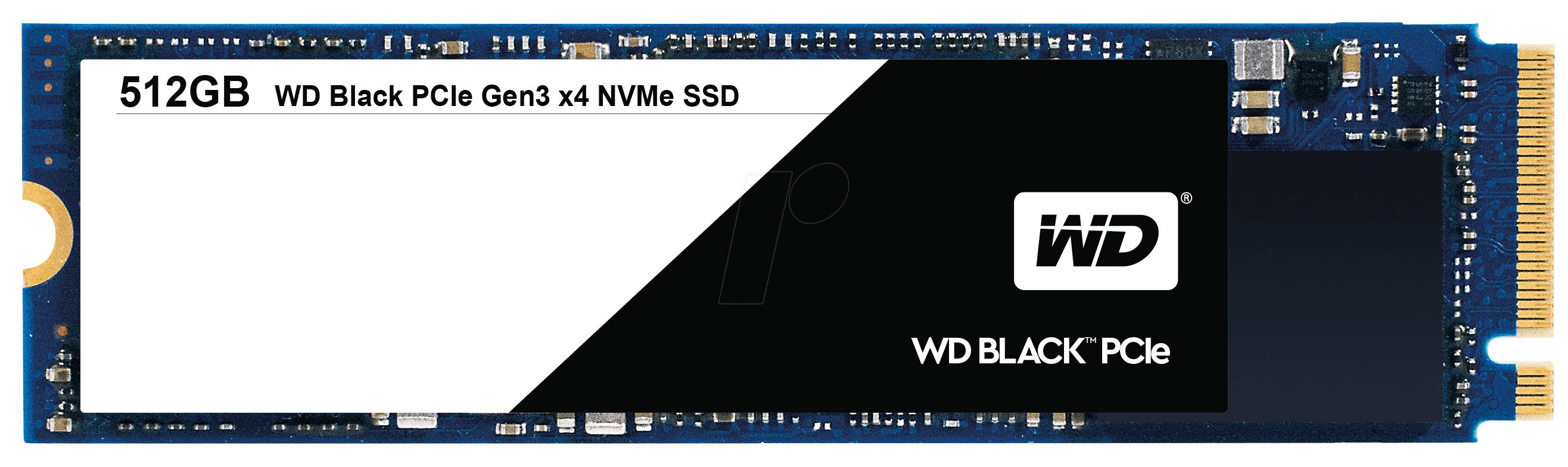 SSD interne Western Digital (WD) Black PCIe NVMe M.2 2280 - 512 Go