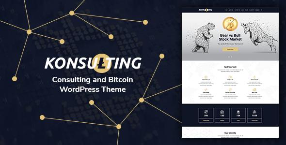 Thème Wordpress Konsulting avec Visual Composer et Slider Revolution Gratuit (Dématérialisé)
