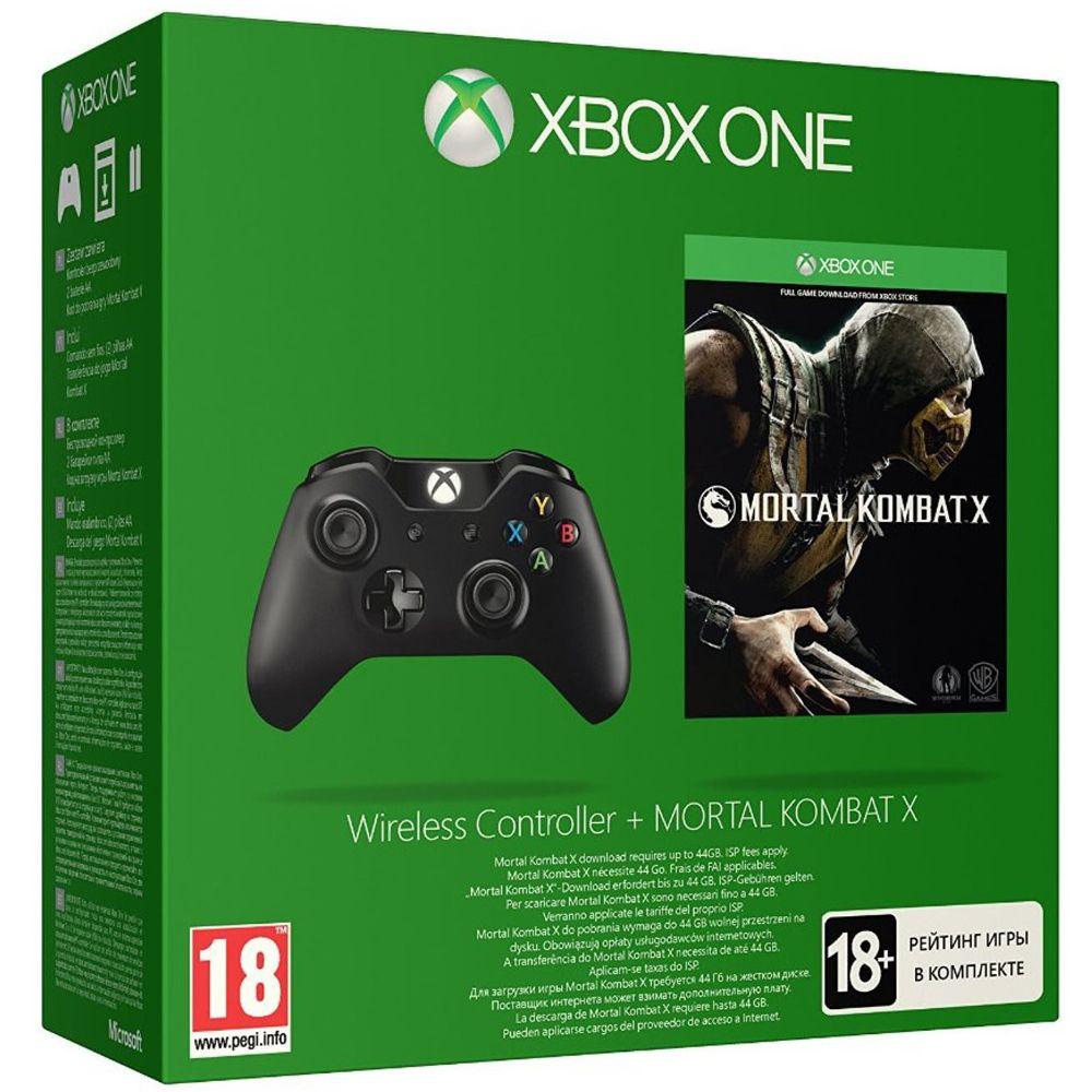 Manette sans fil Microsoft Xbox One + Mortal Kombat X (Dématérialisé)