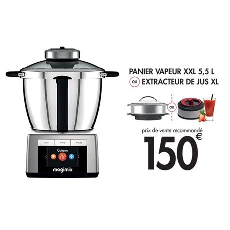 Robot de cuisine multi-fonction Magimix Cook Expert + extracteur de jus ou panier XXL