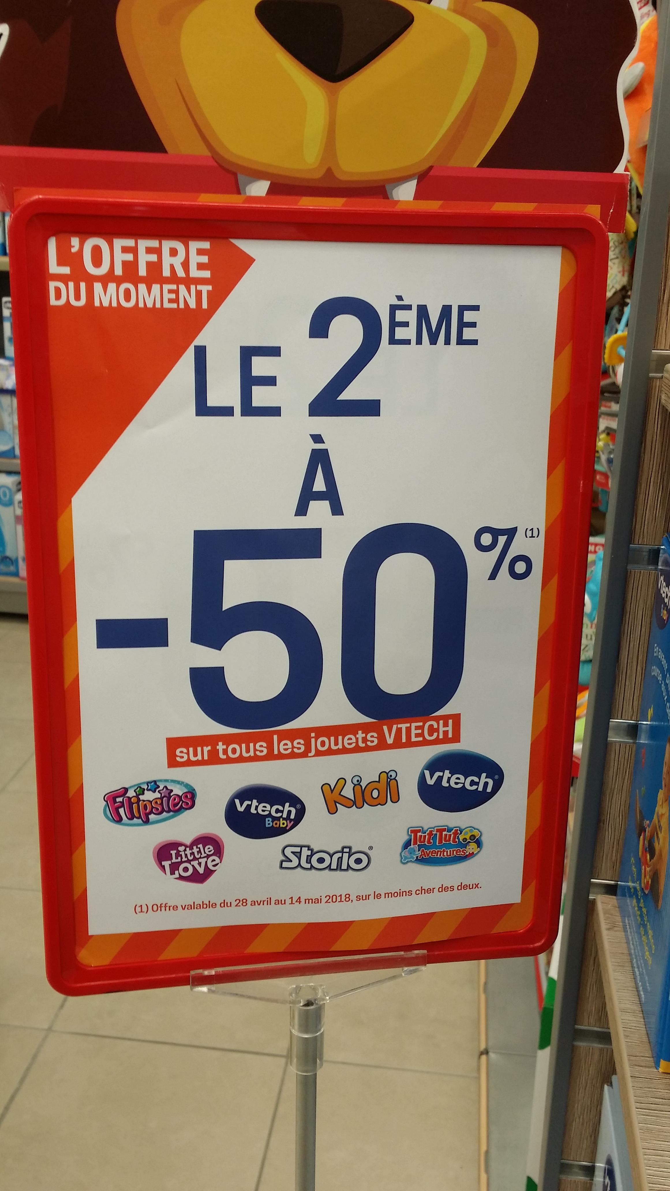 50% de réduction sur le 2ème jouet Vtech acheté - Annemasse (74)