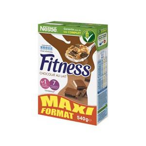 2 paquets de céréales Fitness Chocolat 540g (avec 50% sur la carte)