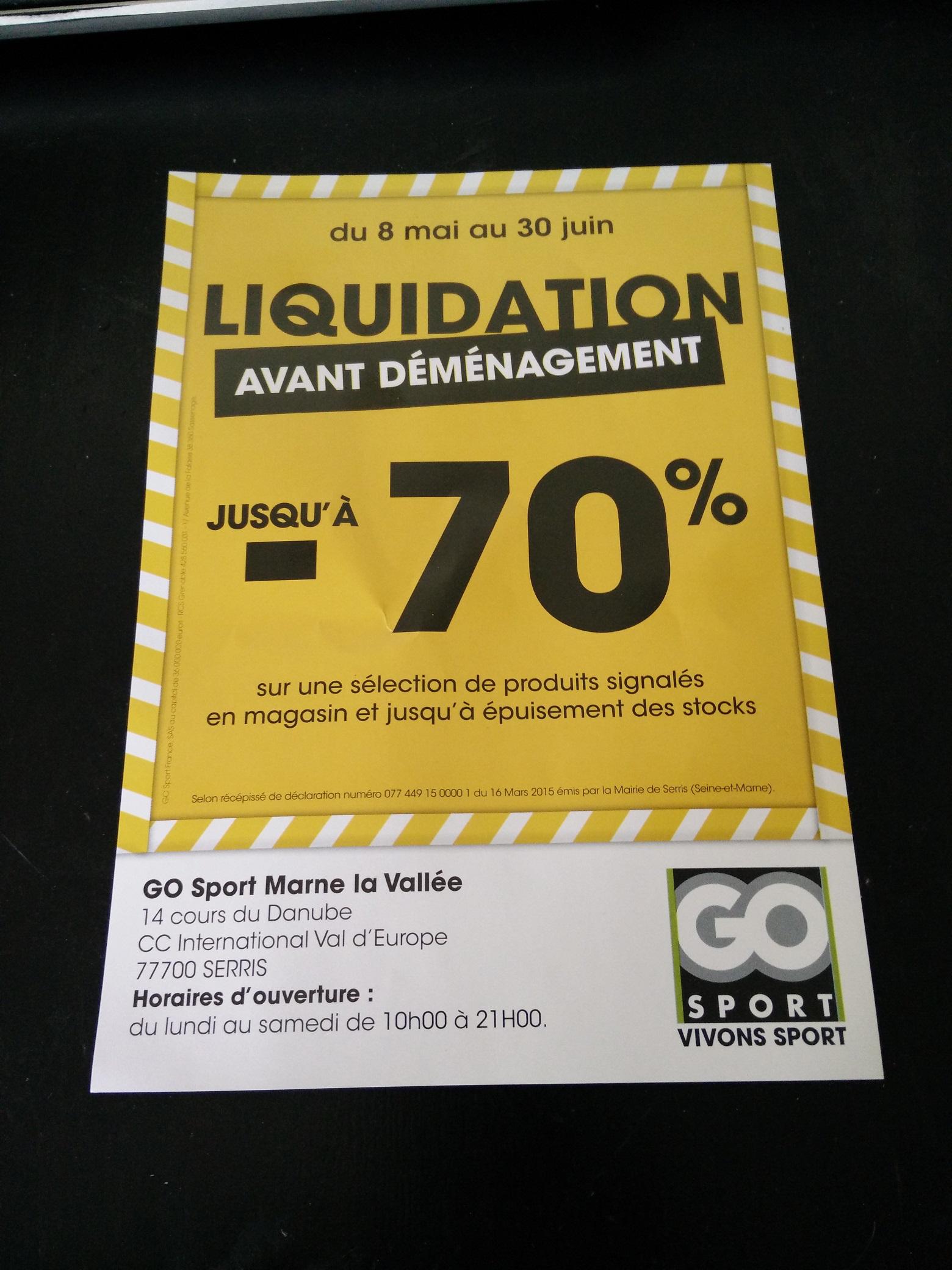 Liquidation : Jusqu'à 70% de réduction