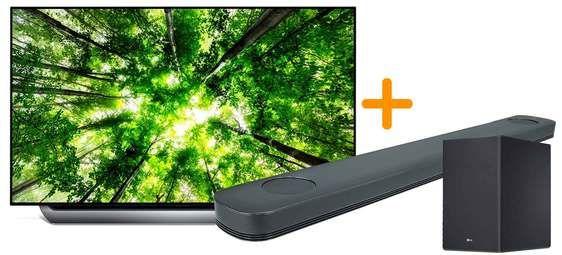 """TV OLED 55"""" LG OLED55C8 - UHD 4K, HDR, Smart TV + Barre de son LG SK9Y - Dolby Atmos (via ODR 900€)"""