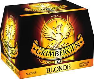 Lot de 2 pack de bière blonde Grimbergen 12x25cl (via bon de réduction)