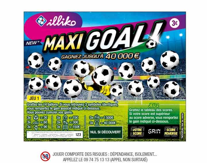 [A partir de 10h] Jeu a Gratter Illiko Maxi Goal (Via ODR Shopmium  50%)