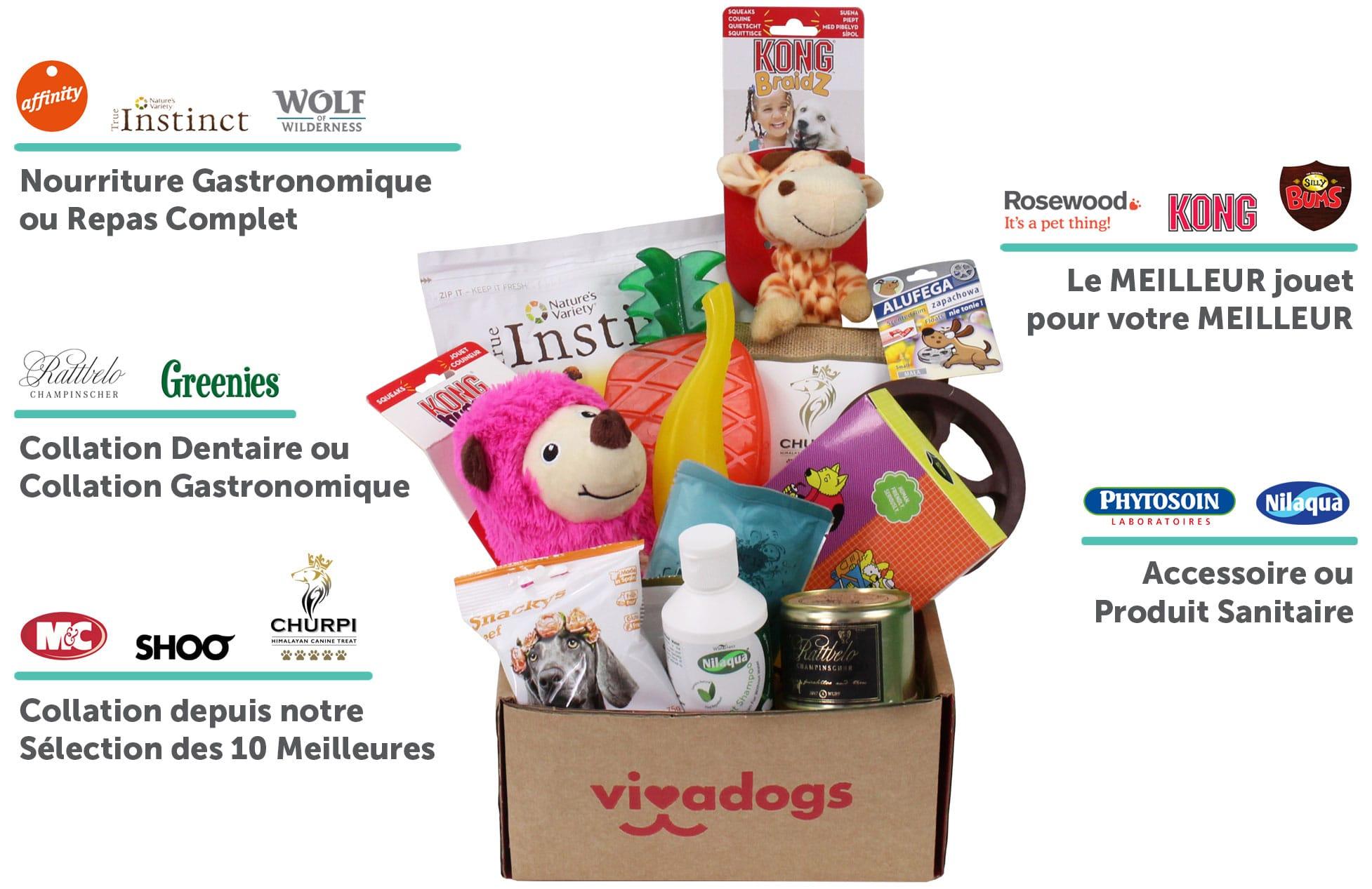 [Nouveaux clients] Box Vivadogs : jouets et friandises pour chien