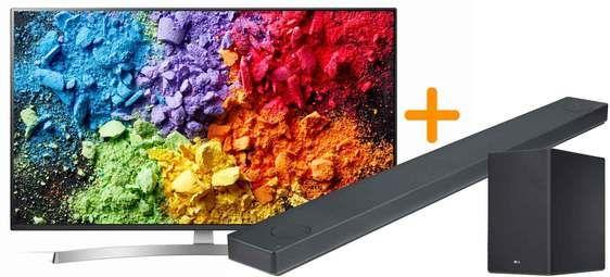 """TV 65"""" LG 65SK8500 - UHD 4K, HDR, Smart TV + Barre de Son LG SK10Y - Dolby Atmos (Via ODR 1500€)"""