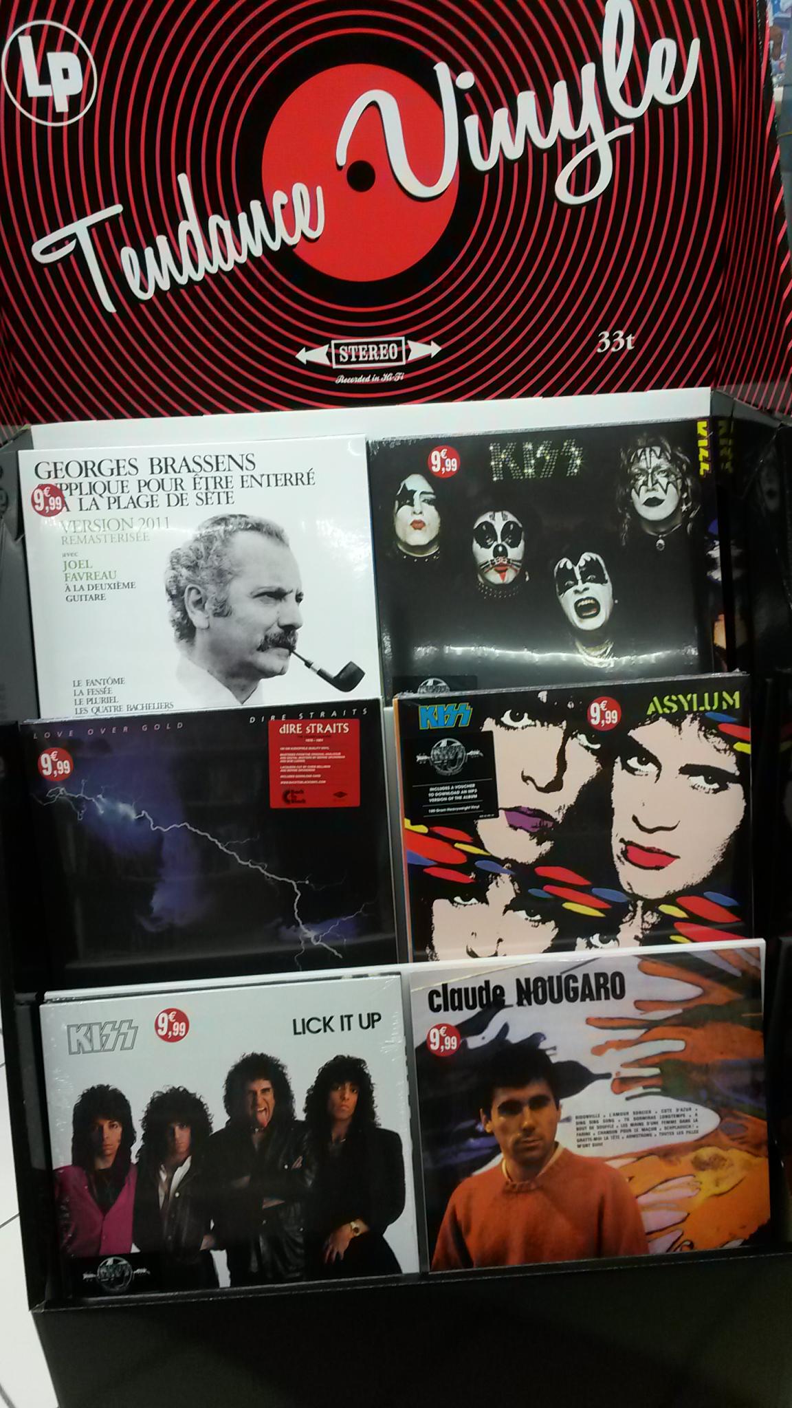 Sélection de Vinyles  Kiss, Dire Straits et ... Brassens
