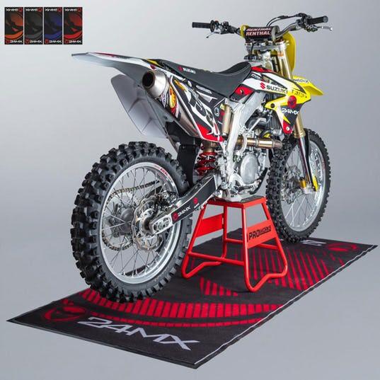 Tapis environnemental 24MX Race Premium pour moto - Plusieurs couleurs