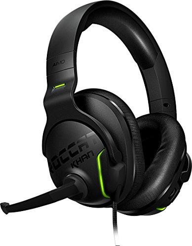 Casque Gaming 7.1 Roccat Khan Aimo - Son Surround, Audio Hi-Res, RGB, Microphone Désactivable, Noir