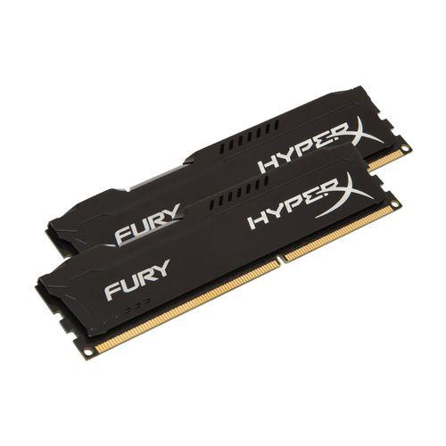 Kit Mémoire PC Kingston HyperX Fury black Series 8 Go (2 x 4 Go) - DDR3 1866 MHz Cas 10