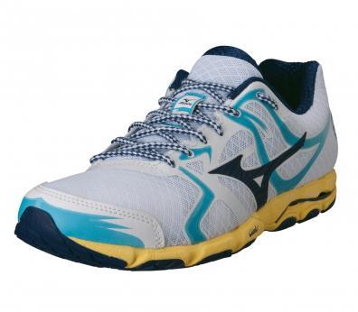 Chaussures de running Mizuno Wave Hitogami pour Femmes (blanc/bleu)