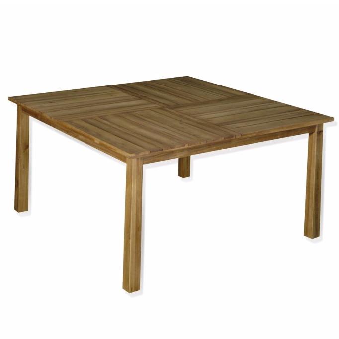 Table de Jardin fixe Square Naturel en Acacia FSC (4 à 8 Places) - 75 x 140 x 140cm