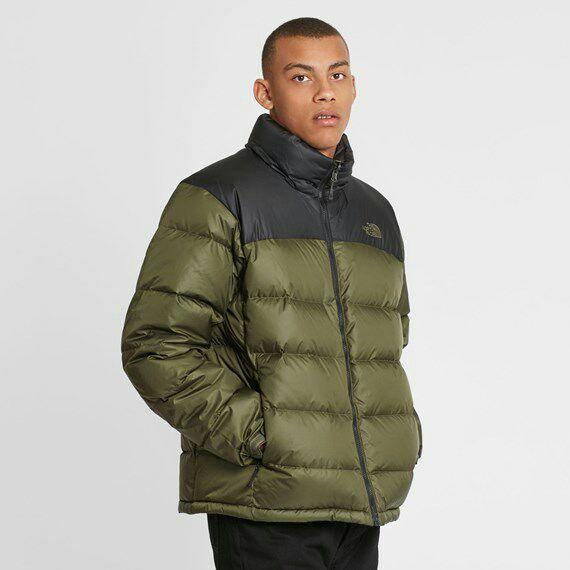 Doudoune The North Face M Nuptse 2 Black / Night Green pour Hommes - Tailles au choix